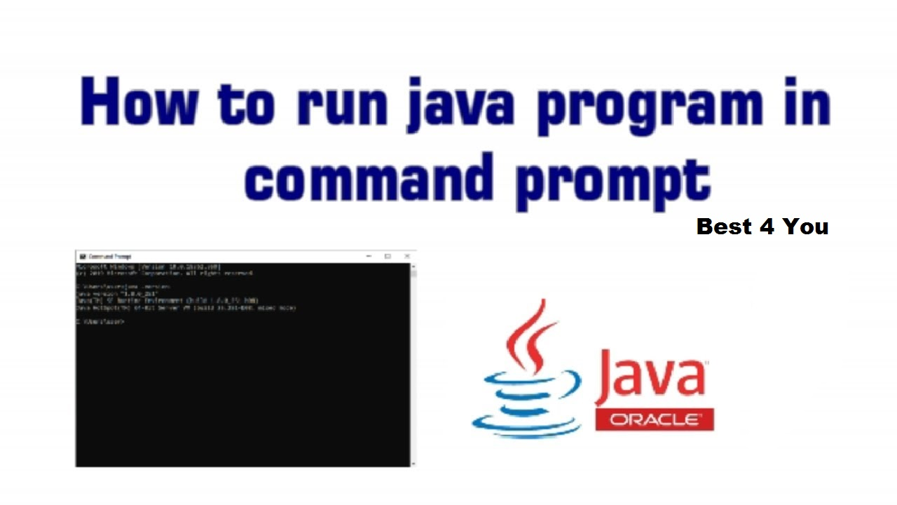 how to run java program in cmd (